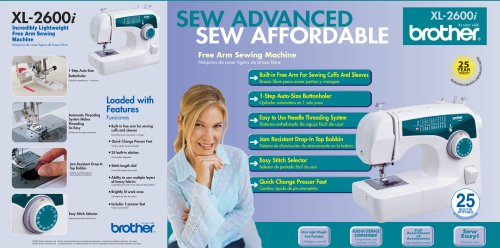 Amazon Brother XL40I Sew Advance Sew Affordable 40Stitch Unique Brother Sewing Machine 2600i