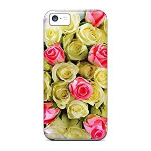 Excellent Iphone 5c Case Tpu Cover Back Skin Protector Bouquet Of Roses