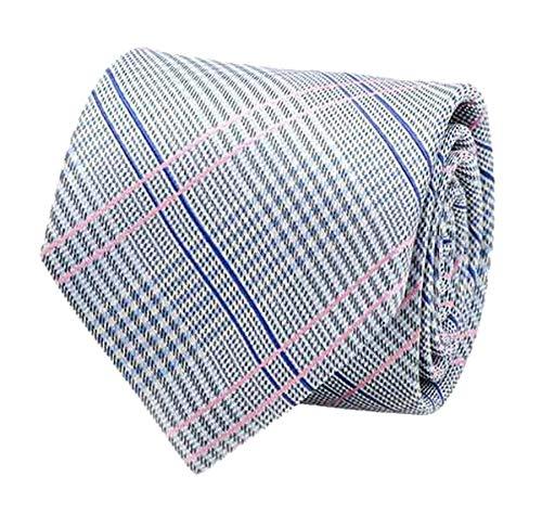 (Star Wars Men's Glen Plaid Silk Tie, Blue/Pink)