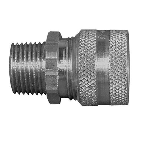 Appleton CG-2575 Liquid Tight Strain Relief Cord and Cable Connector, 3/4'' Hub, 0.250''-0.375'' Cable Range, 10 lb, 1.25'' Diameter, Aluminum, Green