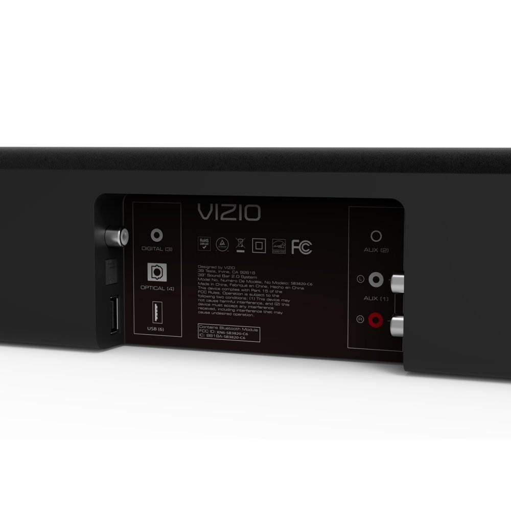 VIZIO SB3820-C6 38-Inch 2.0 Channel Sound Bar by VIZIO