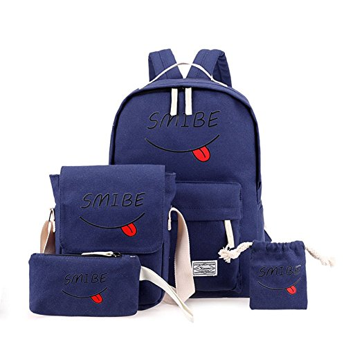 Portalápices Azul Niñas Zarco De Azul Niños Bolsa Cara Mochila Marino Adolescentes Billetera Sonriente Hombro Claro wOFpqU