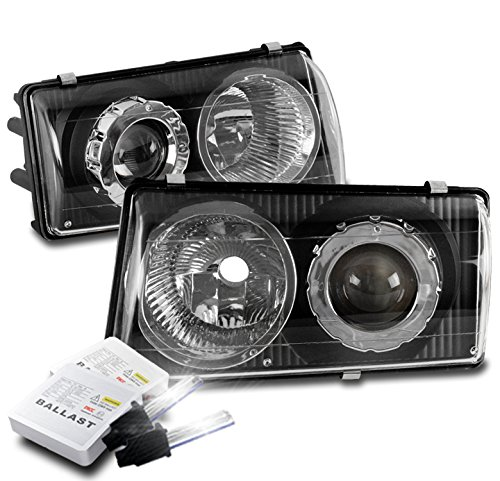 ZMAUTOPARTS 1997-2004 Chevy Corvette C5 Black Projector Headlights Headlamps with 6000K HID Conversion Kit - Chevy Corvette Projector Headlights