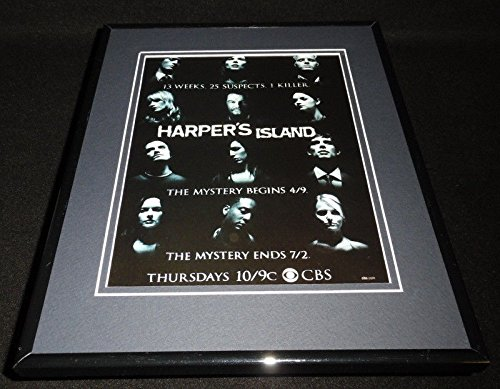 Harper's Island 2009 CBS Framed 11x14 ORIGINAL Advertisement Elaine Cassidy
