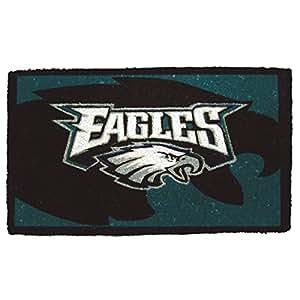 "30"" Philadelphia Eagles NFL Football Authentic Logo Indoor Outdoor Welcome Mat"