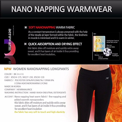 Women Thermal Underwear Pants Leggings Tights Base Layer Compression Bottoms NPW S by Henri maurice (Image #1)