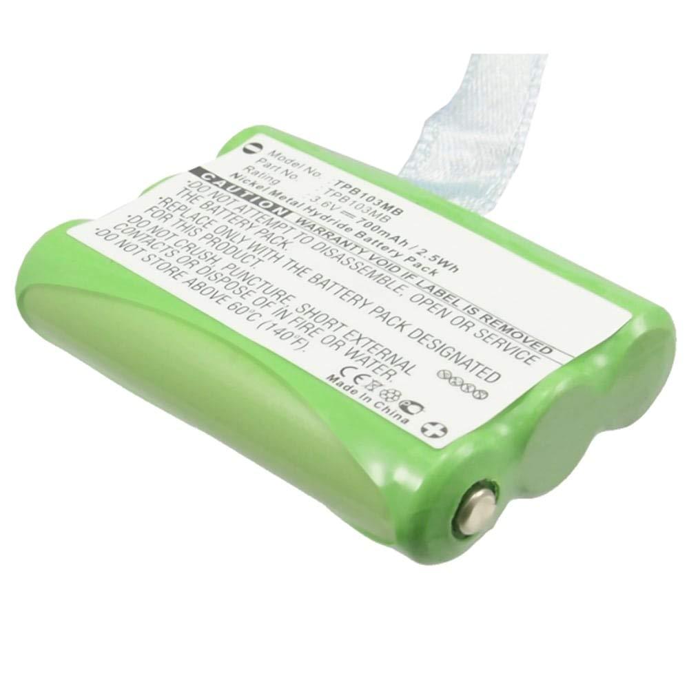 subtel® Batterie Premium pour Topcom Babytalker 1010 Babytalker 1020 Twintalker 3700 1030 (700mAh) TPB103MB Batterie de Rechange, Accu Remplacement
