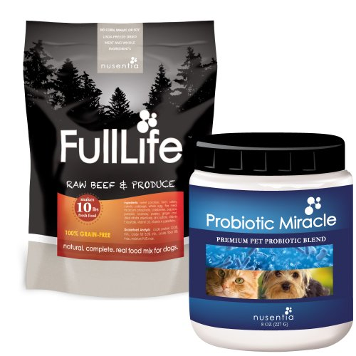 Probiotic Miracle (360 servings) + 50% off FullLife Grain-Free Dog Food (20 servings) (Beef)