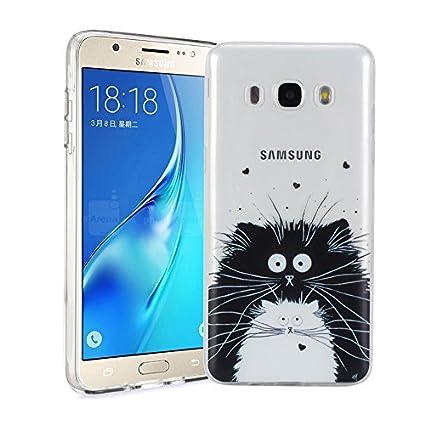 Funda Samsung Galaxy J5 2016 SM-J510F Silingsan Funda de Silicona TPU para Samsung Galaxy J5 2016 SM-J510F Carcasa Transparente Soft Clear Case Cover ...