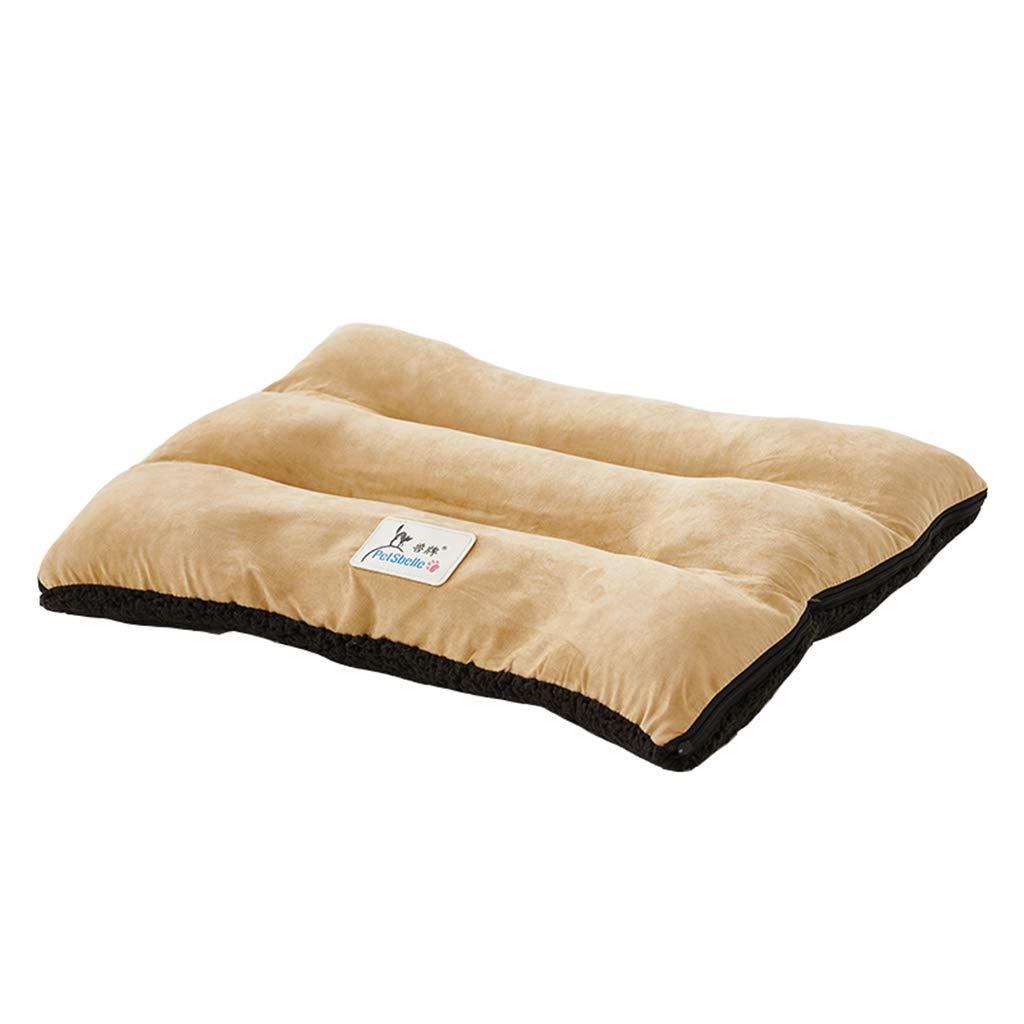 91×71×13cm Pet Mat, Large Dog Kennel Cat House Removable and Washable Pet Nest WearResistant Bite Pet Bed Pet Supplies (Size   91×71×13cm)