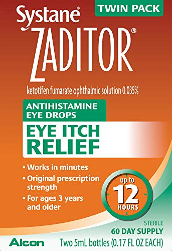 Zaditor Antihistamine Eye Drops, Twin Pack, 5-mL Each