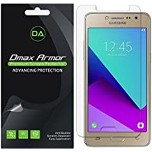 [6-Pack] Dmax Armor Samsung Galaxy J2 Prime Screen Protector, Anti-Bubble High Definition Clear Shield - Lifetime Replacements Warranty- Retail Packaging