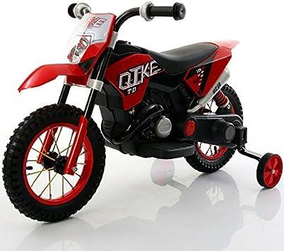 Moto eléctrica para niños Moto Cross roja juguete eléctrica para ...