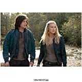 Thomas McDonell 8 Inch x 10 Inch PHOTOGRAPH The 100 (TV Series 2014 - ) Walking w/Eliza Taylor kn