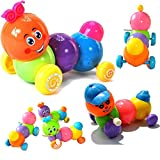 timeracing Cute Children Baby Toys Colorful Body Worming Caterpillar Wind up Toy Kid Birthday Gift