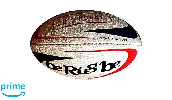 beRugbe 0brbminreg53000110 balón de Rugby Unisex niños, Azul/Rojo ...