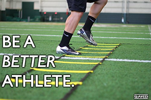Slayed Sports AGILITY LADDER (15FT) by Workout Equipment Includes Metal Pegs, Carry Bag, and BONUS E-book with Video of Agility Drills and Athletic Development Tips | by Slayed Sports (Image #7)