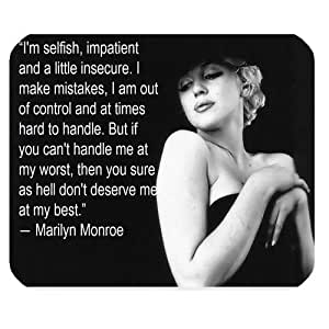 Mystic Zone Personalized Marilyn Monroe Rectangle Mouse Pad (Black)