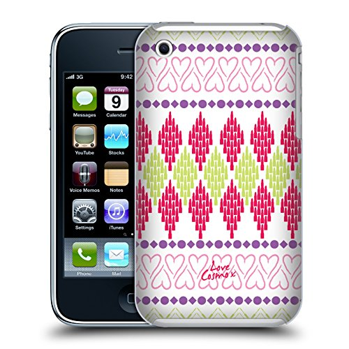 Official Cosmopolitan Heart Aztec Brights Hard Back Case for Apple iPhone 3G / 3GS