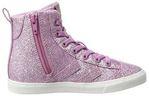 Hummel Strada Glitter Jr, Zapatillas Altas Para Niñas Rosa (Grape Shake)