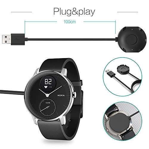 TUSITA Chargeur pour Nokia Steel HR Smartwatch (Pas pour Withings Steel HR): Amazon.fr: High-tech