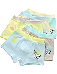 Boys Boxer Brief Comfort Soft Boxers for Kids Cotton Underwear 5 Pack