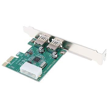 KESOTO USB3.0 USB III 2 Port Interne 5 Gbit//S Ports Zur PCI Express Controllerkarte