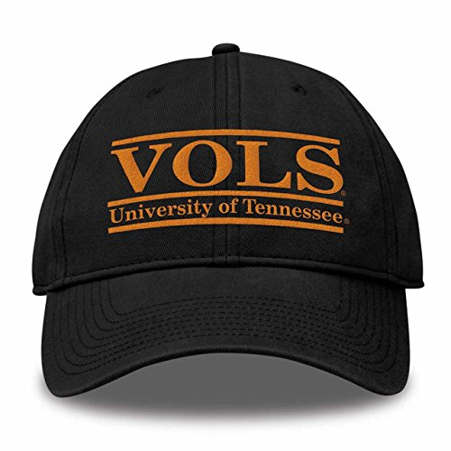 The Game NCAA Tennessee Volunteers Bar Design Classic Relaxed Twil Hat, Black, (Tennessee Volunteers Ncaa Design)