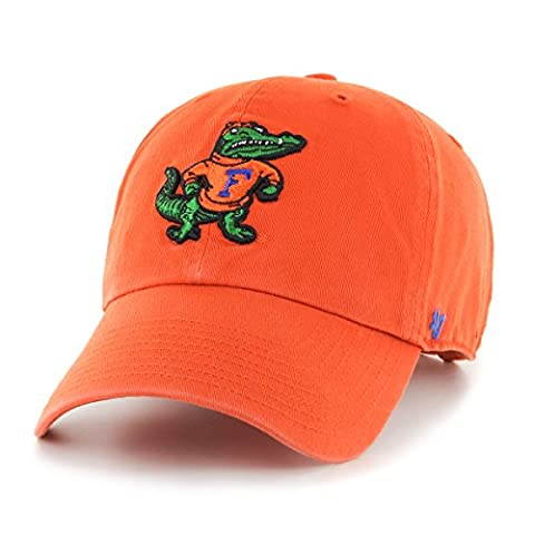 NCAA Florida Gators Clean Up Adjustable Hat, One Size, Orange - Florida Gators Baseball Cap