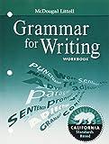 img - for McDougal Littell Literature California: Grammar for Writing Workbook Grade 8 book / textbook / text book