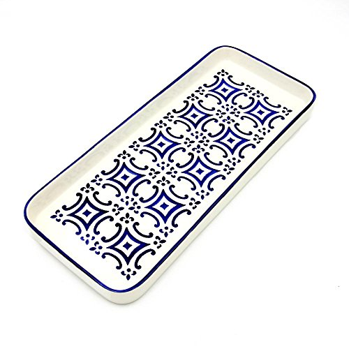 Portugal Ceramic - Portugal Gifts Hand-painted Ceramic Large Tart Tray