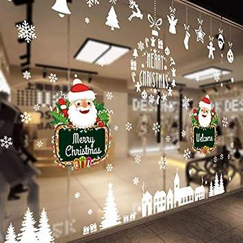 Ammybeddings Weihnachten Fensteraufkleber Removable Schaufenster
