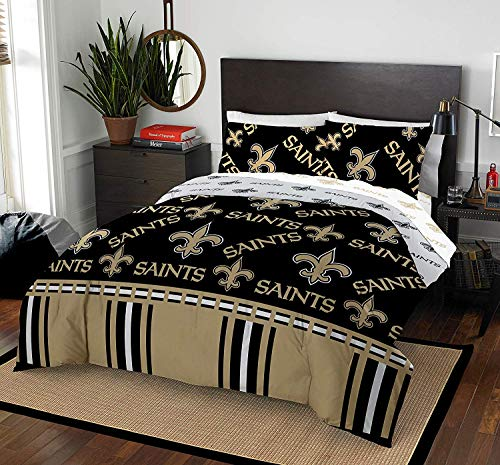 The Northwest Company NFL New Orleans Saints Queen Bed in a Bag Complete Bedding Set #932867780