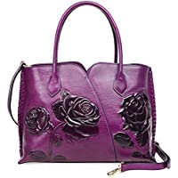 PIJUSHI Top Handle Bag for Women Designer Floral Purses Satchel Handbag