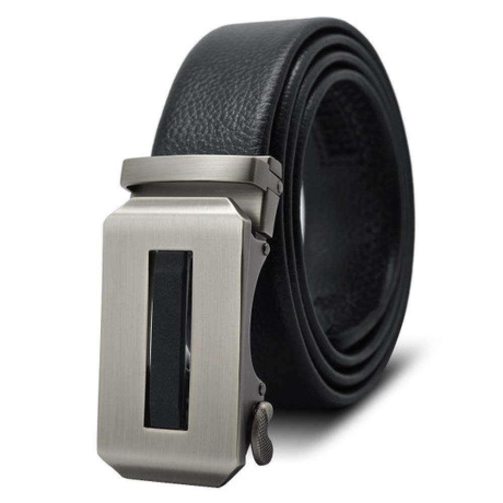 DENGDAI Alloy Automatic Buckle Belt Leisure Mens Belt