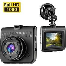 Accfly Dash Cam,Full HD 1080P Dash Camera Car Camera Dashboard Camera With 140 Degree Wide Angle Lens Loop Recording, Motion Detection G-Sensor (color2)