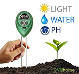 Soil pH Meter, 3 in 1 Soil Test Kit for Moisture, Light and pH, a Must Have Soil pH Meter for Home and Garden, Lawn, Indoor, Outdoors Plant Care Soil pH Tester, Best Soil pH Meter for 2018