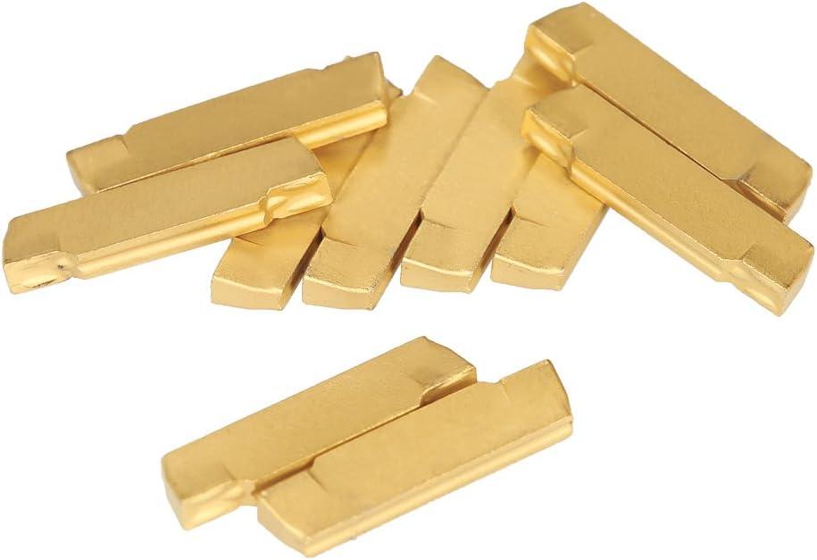 KKmoon 10/pezzi//scatola MGMN200/di G 2/mm completamente in metallo duro Inserti per MGEHR//mgivr tornio einstechen Cut Off Tool