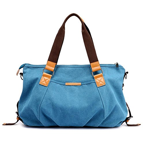 Penao simple de bolso de Lona Blue tamaño 53cmx14cmx30cm hombro elegante totalizador de bolso señora pp4wHqrfx