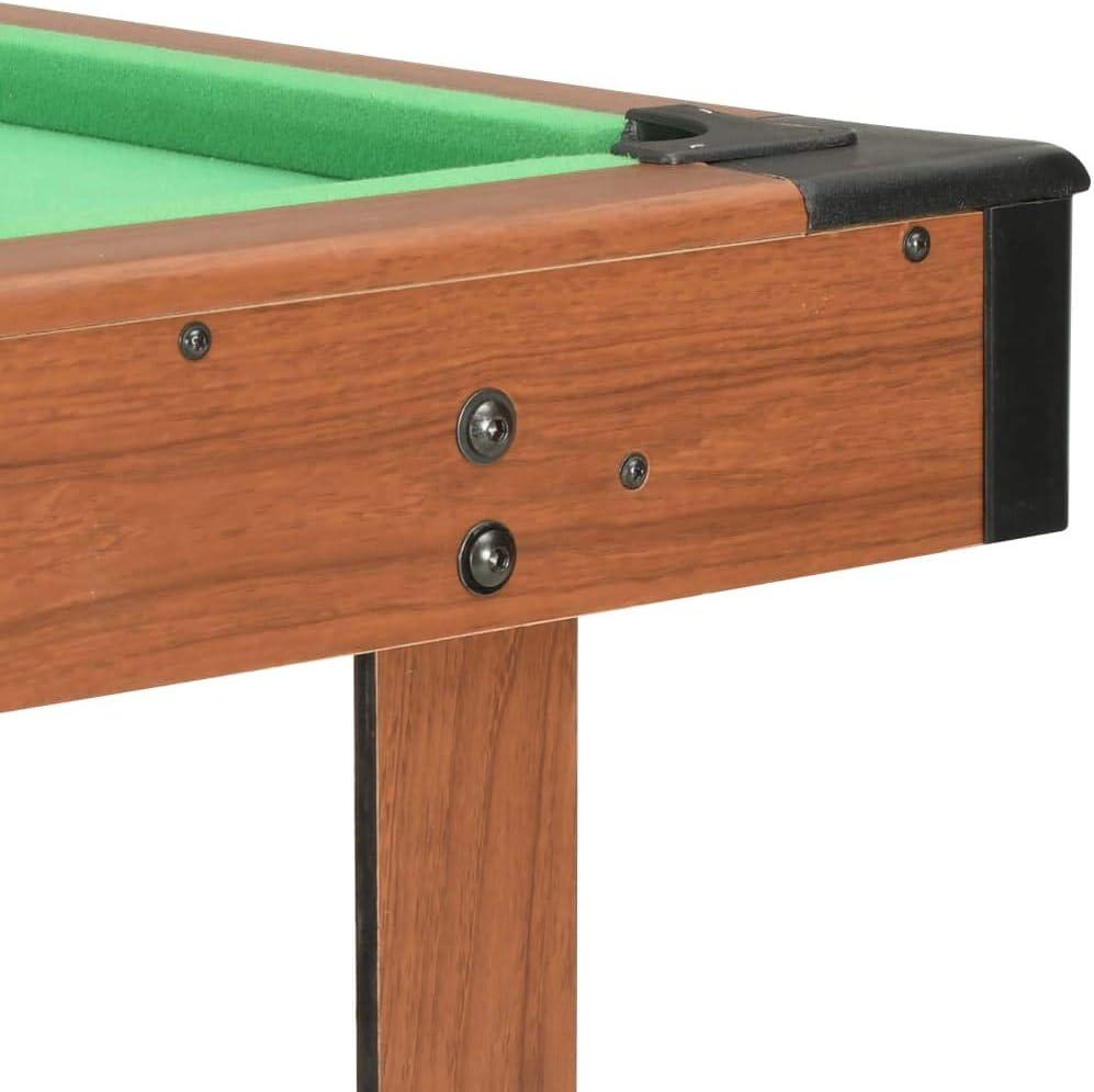 vidaXL Mesa de Billar de 4 Pies Juego Simulación Deportes Diversión Casa Hogar Pub Local Sala Juegos Entretenimiento Robusto Marrón 122x61x76cm: Amazon.es: Deportes y aire libre