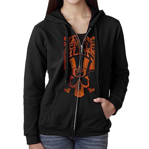 KJhsfub Casual Womens Stone Temple Pilots Full-Zip Sweatshirt Hoodie Jacket Medium