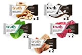 Truth Bar (Prebiotic + Probiotic), 5 Flavors, 12 Bars (Variety Pack) Low Sugar, Diet Support, Gluten Free, High Fiber, Kosher, Soy Free, Non-GMO Nutrition Snack Bar with Premium Dark Chocolate