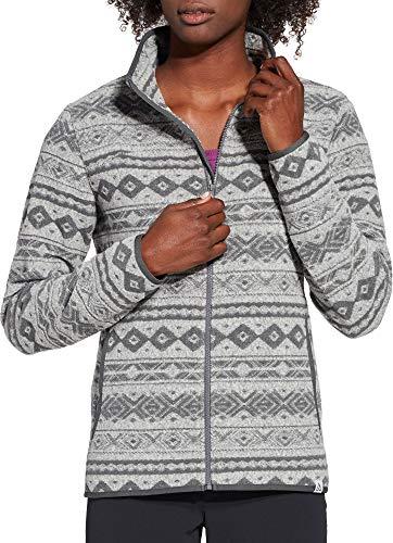 Alpine Design Women's Jacquard Fleece Jacket (S, Gardenia Jacquard)