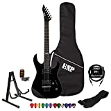ESP LTD M10KIT-BLK Electric Guitar with 10 Feet Cable, Strap, Stand, Tuner, DVD, ChromaCast Pick Sampler and ESP Gig Bag