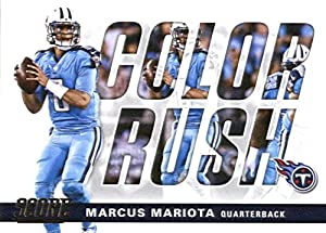 2017 Score Color Rush #7 Marcus Mariota Tennessee Titans Football Card