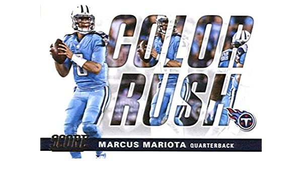 Amazon.com  2017 Score Color Rush  7 Marcus Mariota Tennessee Titans  Football Card  Collectibles   Fine Art 4a1c27b27