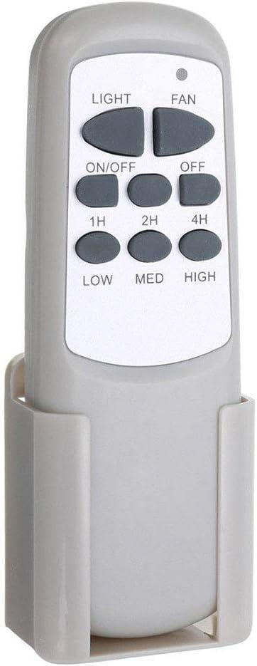 Ventilador de Techo inal/ámbrico Temporizador de luz de Ventilador de Techo inal/ámbrico Digital Universal Kit de Control Remoto para Ventilador de Techo LUNAH Controlador Remoto del Ventilador