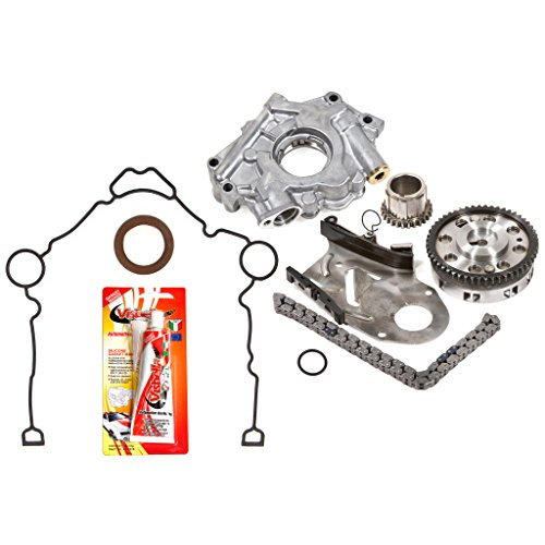 03-08 Chrysler Dodge Jeep 5.7 OHV 16V Hemi Timing Chain Kit Oil Pump Timing Cover Gasket