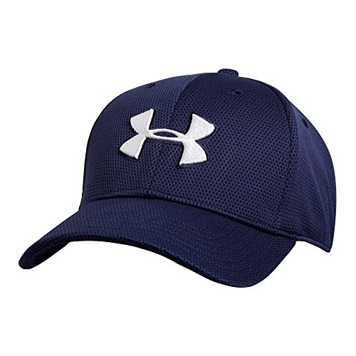 Under Armour Men's Blitzing II Stretch Fit Cap, Midnight Navy /White, Large/X-Large