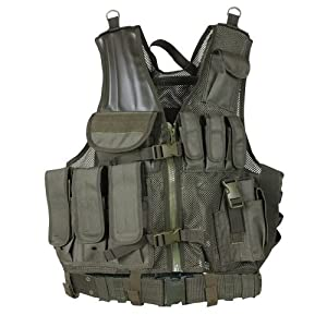 Fox Outdoor 65-22705 Big & tall Mach 1 Tactical Vest Olive Drab